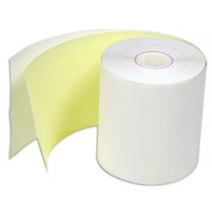 2 PLY 76X76 PAPER ROLLS. BOX OF 50  FOR USE ON MOST DOT MATRIX PRINTERS